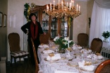 Grandma at her beautiful table setting