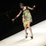 Chinese designer Qi Gang during a fashion show at China Fashion Week for SpringSummer 2012 in Beijing