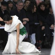 French designer Stephane Rolland as part of his Haute Couture Spring-Summer 2013 fashion show in Paris