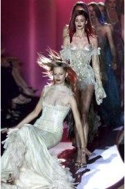 Italian designer Donatella Versace's AutumnWinter 2002-2003 Haute Couture collection in Paris