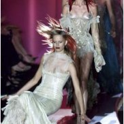 Italian designer Donatella Versace's AutumnWinter 2002-2003 Haute Couture collection in Paris