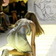 Versace SpringSummer 2012 women's collection during Milan Fashion Week