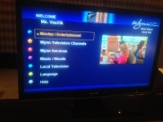 the TV had knew my name...amaze.