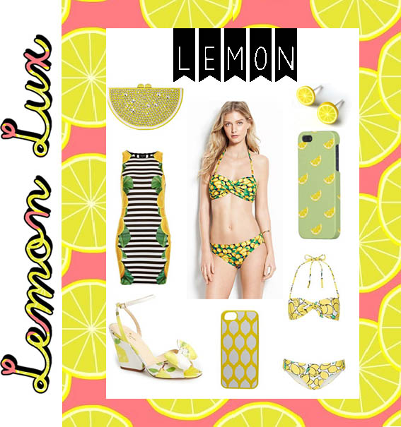 Topshop Lemon Stripe Dress